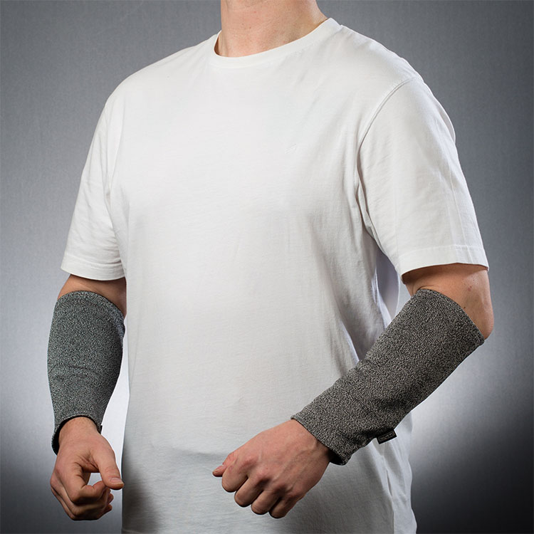 Slash-resistant arm guards