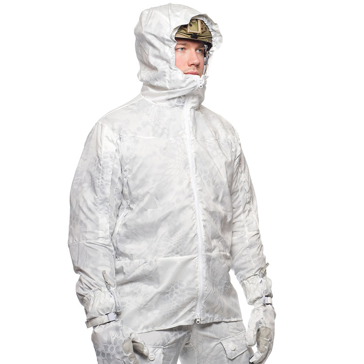 Overwhite camouflage oversuit
