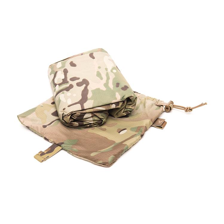 Multicam camouflage basha folded