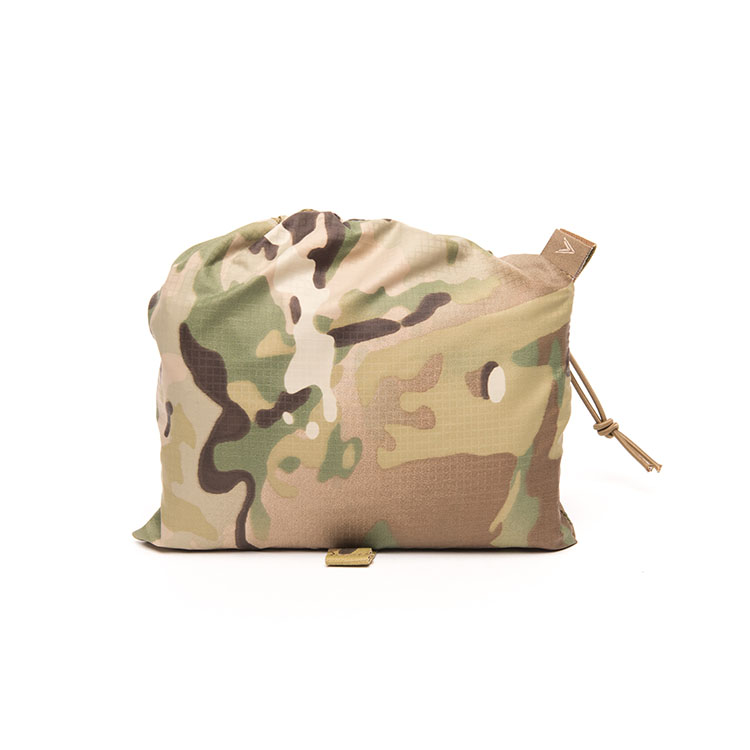 Multicam camouflage basha folded in its pouch