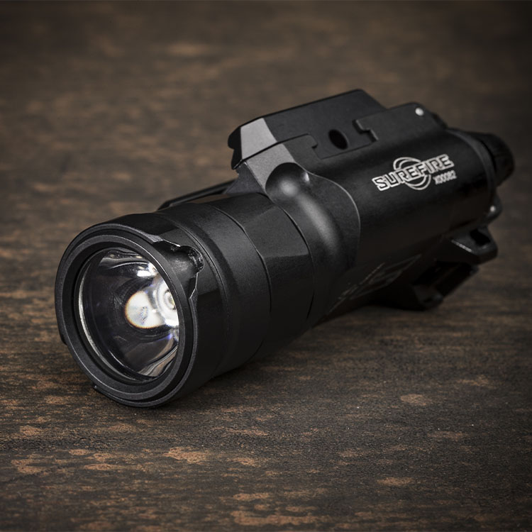 Weapon-mounted flashlight