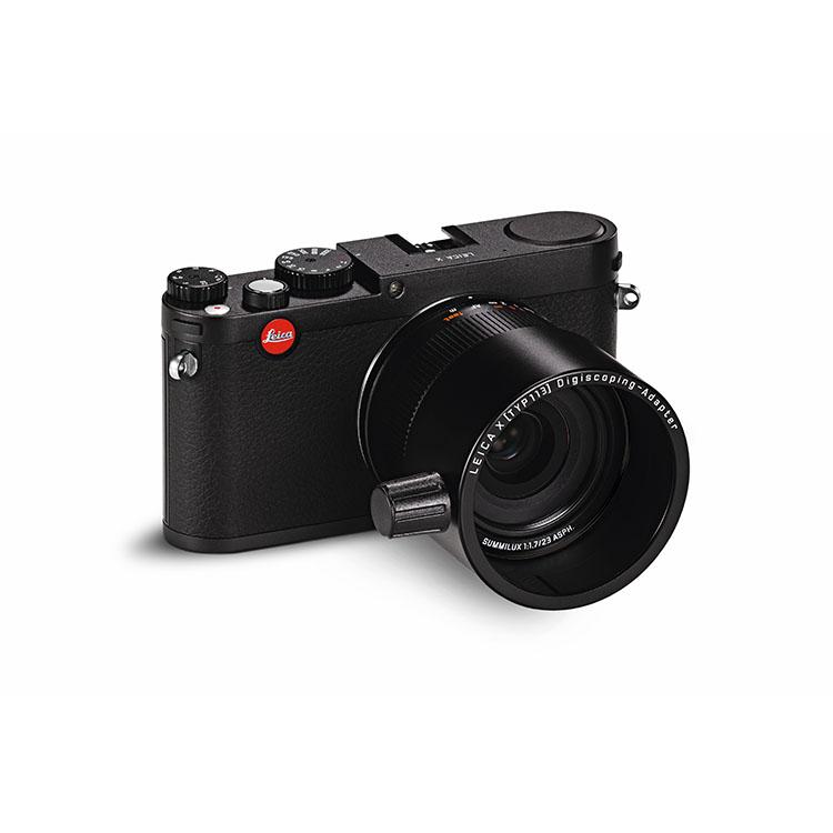 Digiscoping Leica camera X adaptor