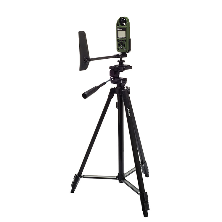 Kestrel anemometer on tripod