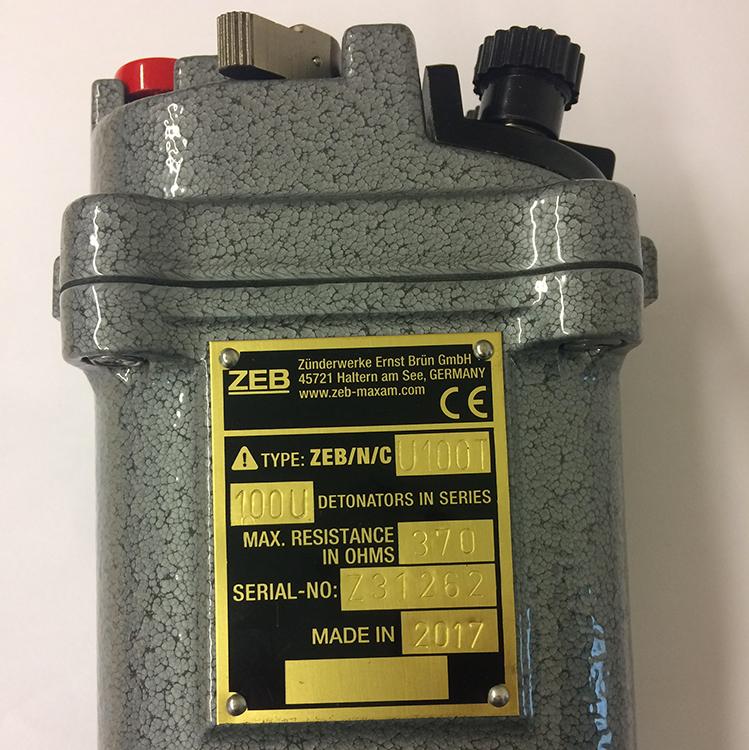 Blasting machine ZEB NCU100T